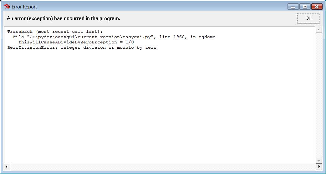 EasyGui Tutorial — easygui 0 98 1-RELEASED documentation